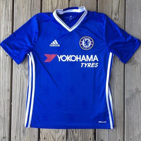 super popular b8654 47ed7 Adidas Chelsea FC Yokohama Tyres Kids Jersey